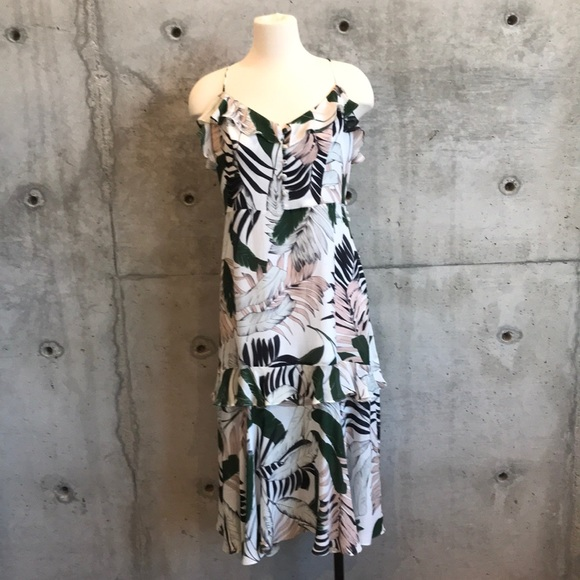 Milly Dresses & Skirts - MILLY Tropical Print Silk Dress NWT
